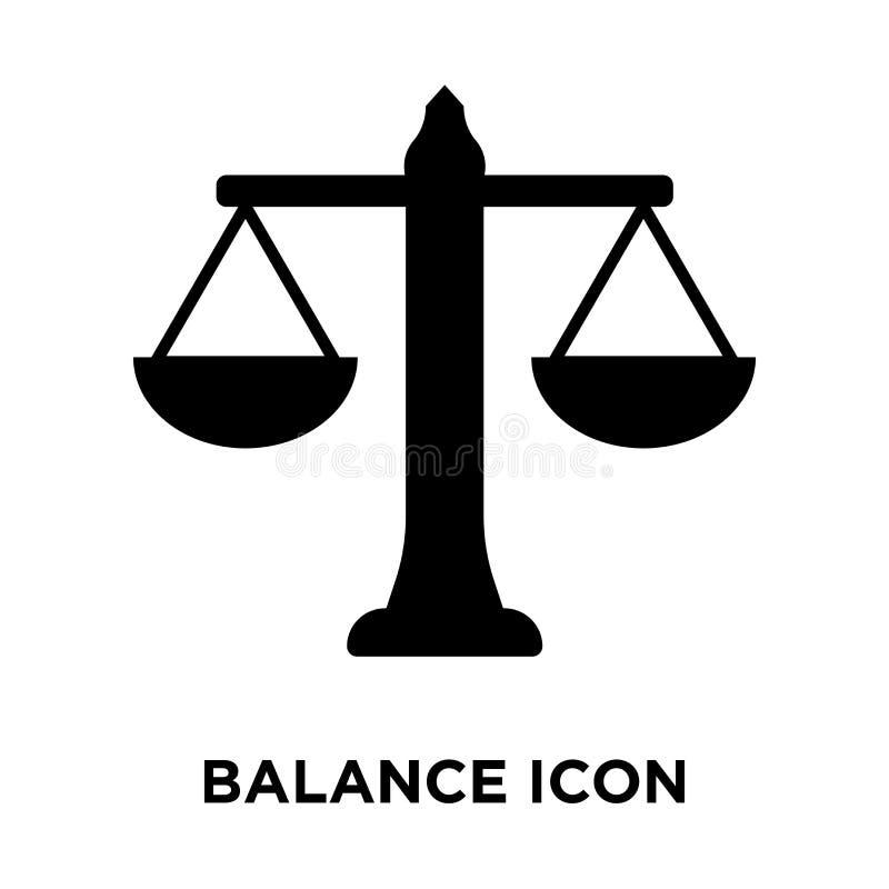 Balancieren Sie den Ikonenvektor, der auf weißem Hintergrund, Logokonzept O lokalisiert wird vektor abbildung