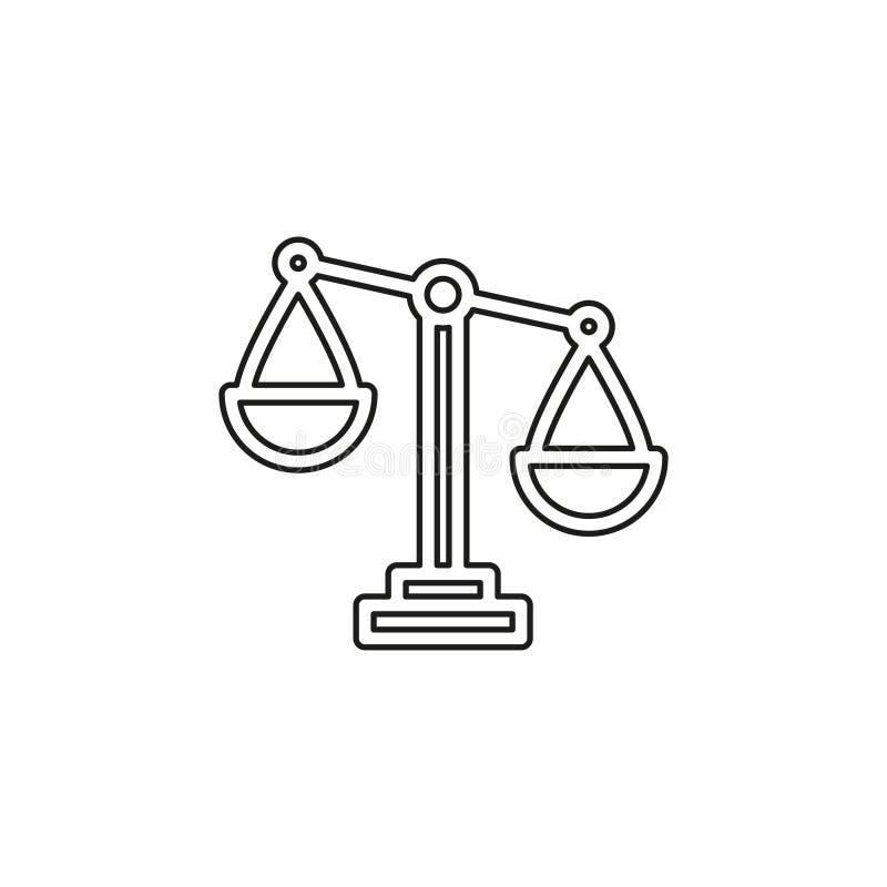 Balancieren Sie Skalaikone, Balancensymbol - Gerechtigkeitszeichen lizenzfreie abbildung
