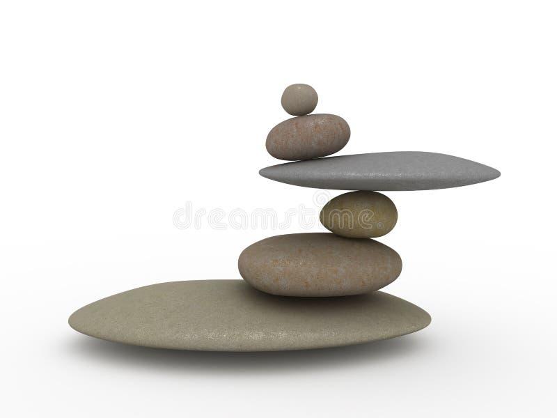 Balancierende Steine stock abbildung