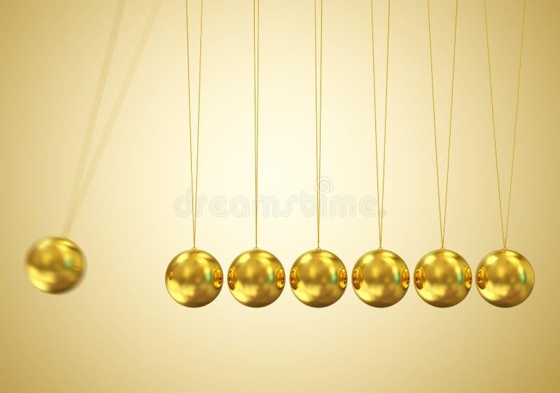 Balancierenden Kugeln Newtons Aufnahmevorrichtung stock abbildung