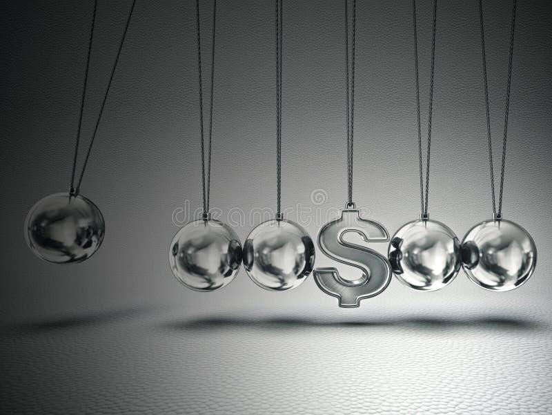 Balancing balls stock illustration