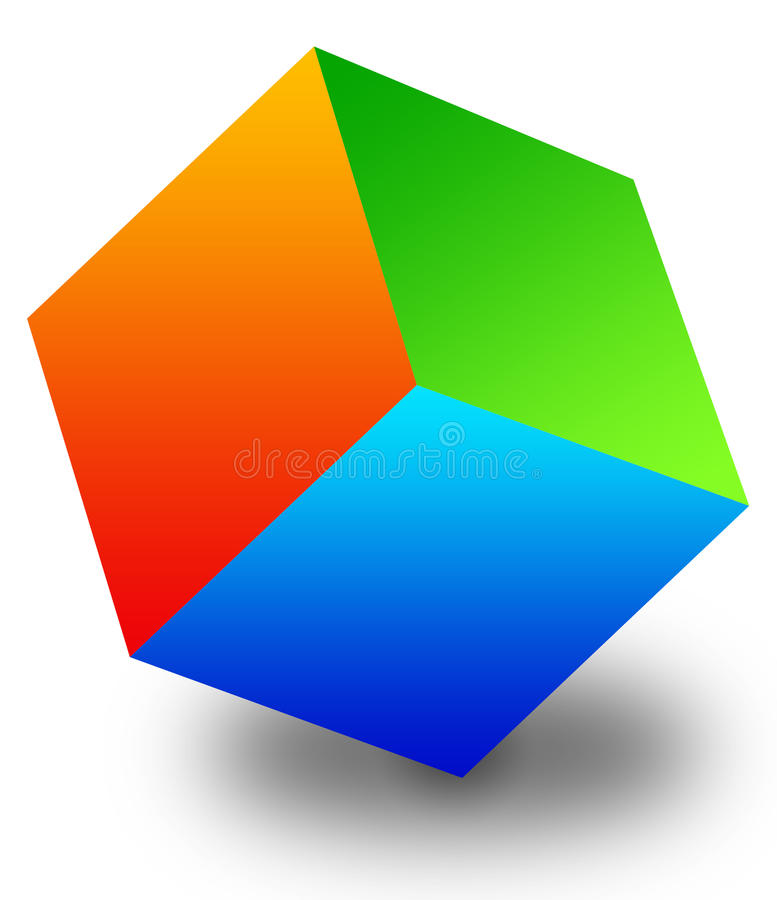 Balancing cube stock illustration