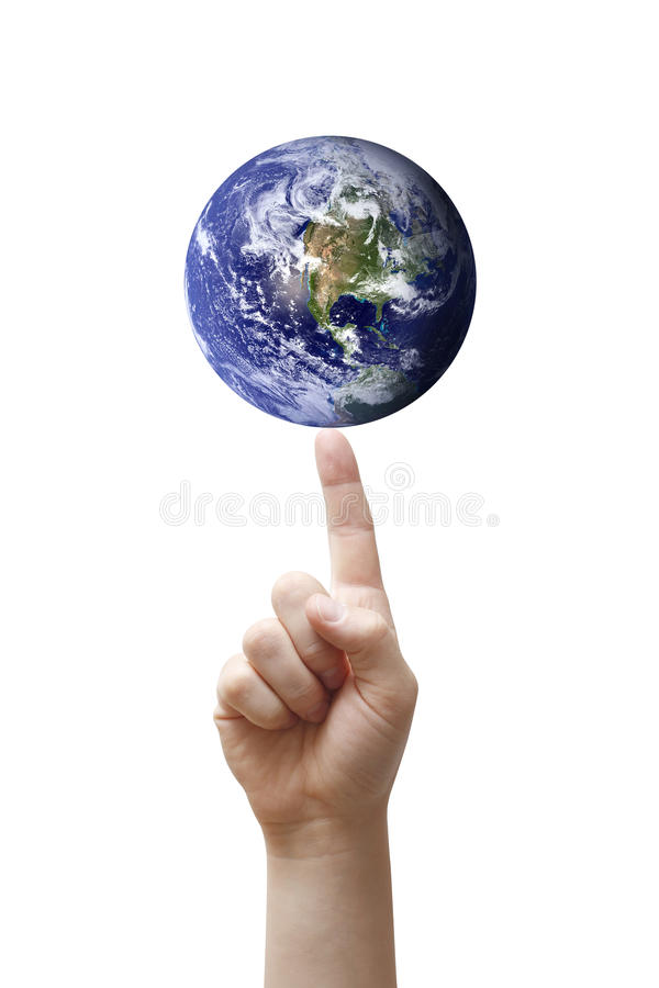 Balancing Earth royalty free stock photography