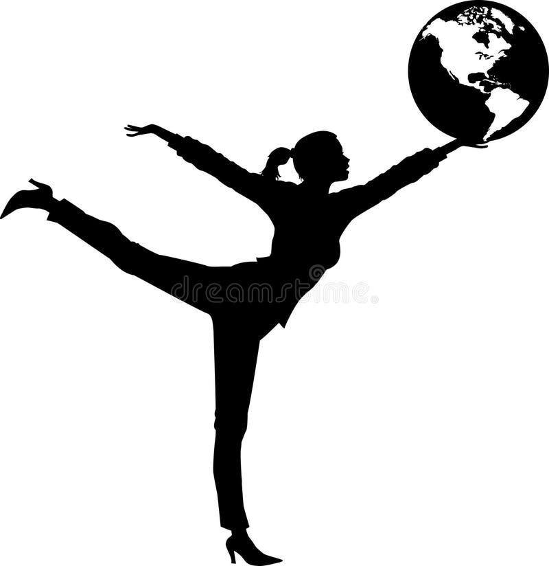 Balancing_globe_01 stock illustratie