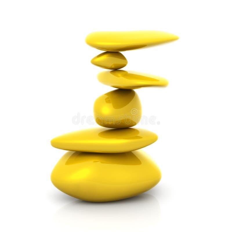 Balancing Gold Nuggets vector illustration