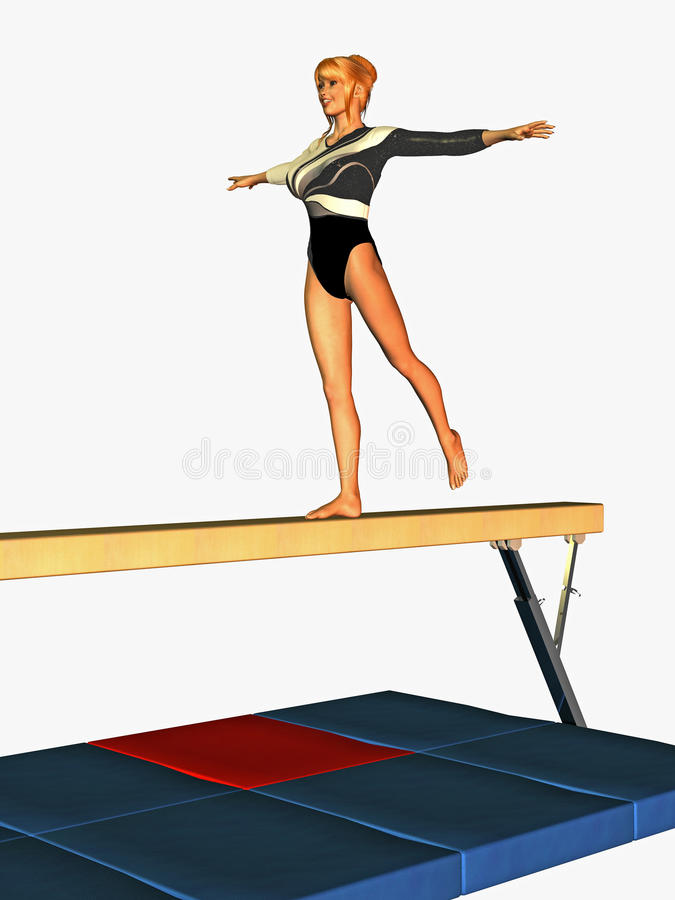 Download Balancing Gymnast Stock Images - Image: 14035504