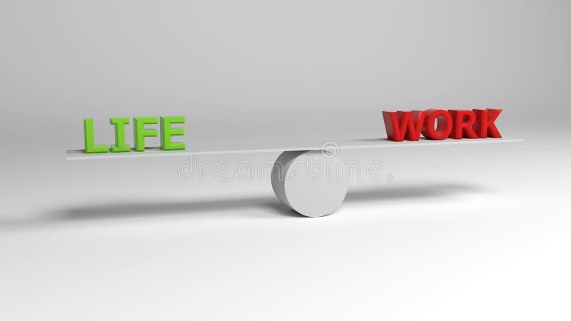 Balancing Lie and Work stock photo