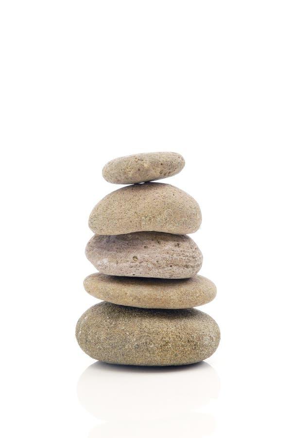 Balancing of pebbles royalty free stock photography