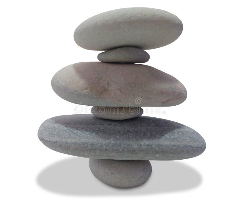 Balancing pebbles isolated on white. Background stock image