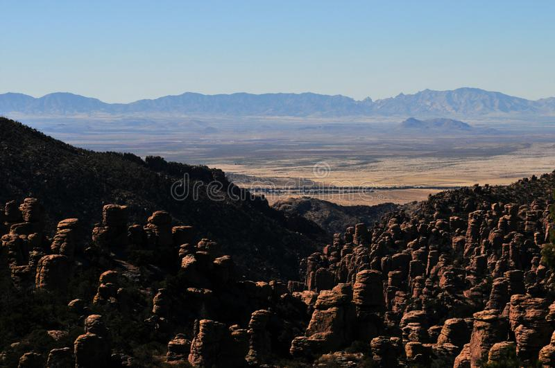 Balancing Rocks and Hoodoos of the Chiricahua mountains of the Chiricahua Apaches royalty free stock photography