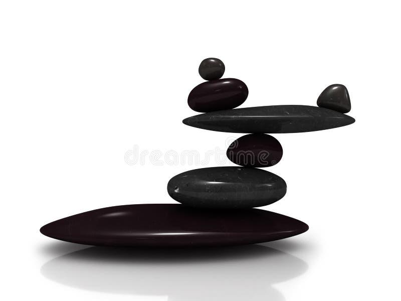 Balancing stones. Isolated on white background royalty free illustration
