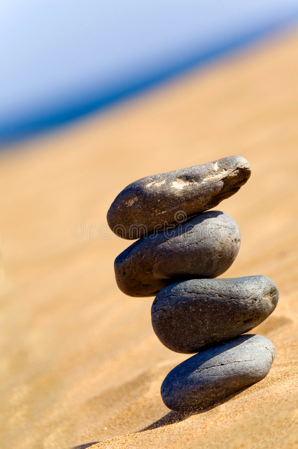 Download Balancing Stones On A Beach Stock Photo - Image: 1881934