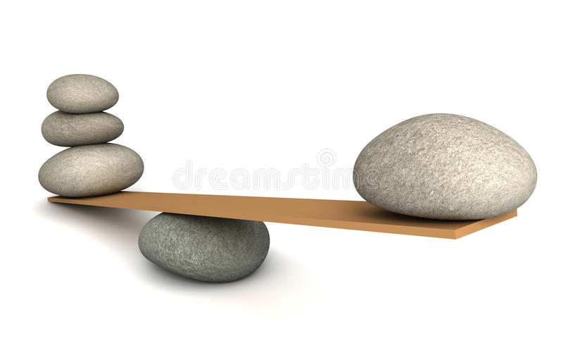 Balancing stones concept 3d illustration stock illustration