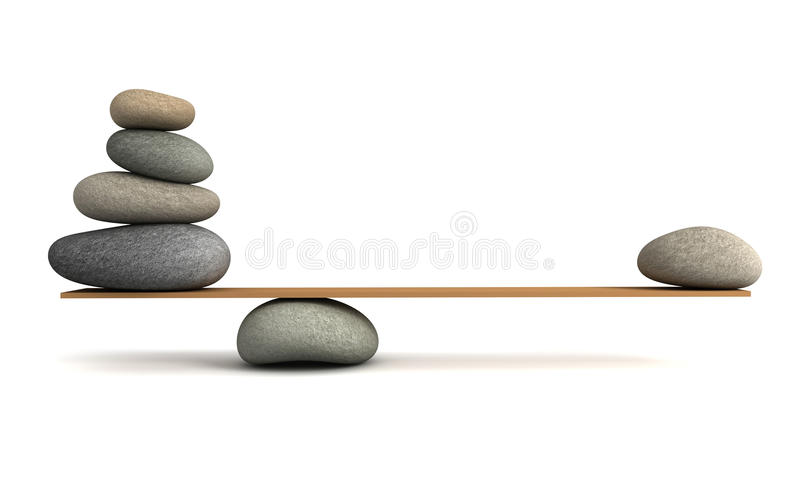 Balancing stones concept 3d illustration vector illustration