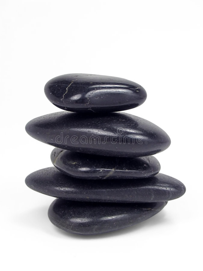 Free Balancing Stones With Clipping Path Stock Images - 1073194