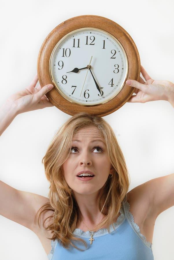 Download Balancing time stock photo. Image of clock, balance, head - 19123128