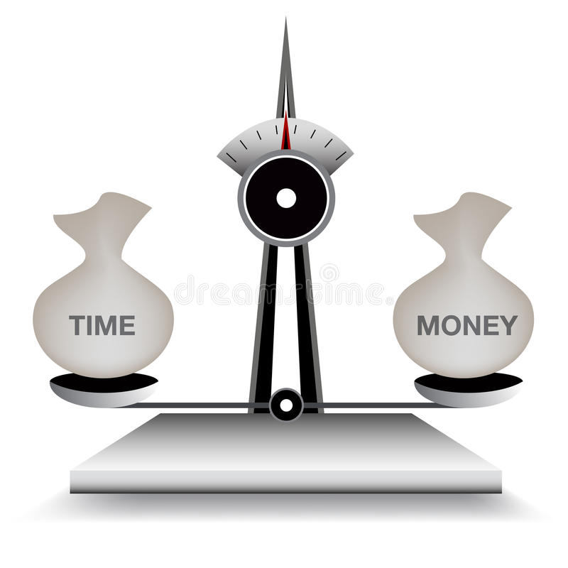 Download Balancing Time and Money stock vector. Image of clip - 26160265