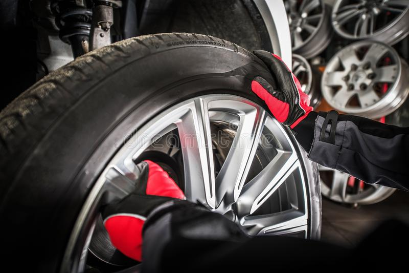 Balancing Vehicle Wheels stock photography