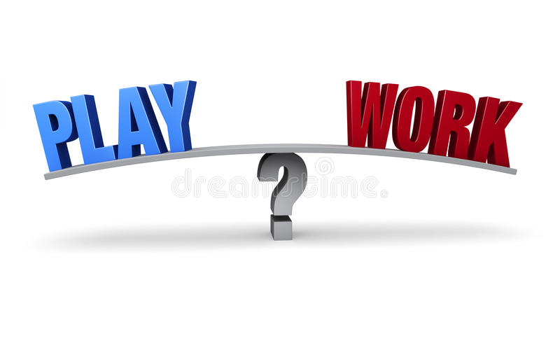 Balancing Work and Play stock illustration. Illustration ...