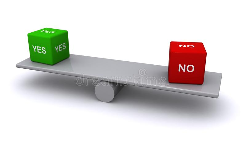 Balancing yes and no royalty free stock photo