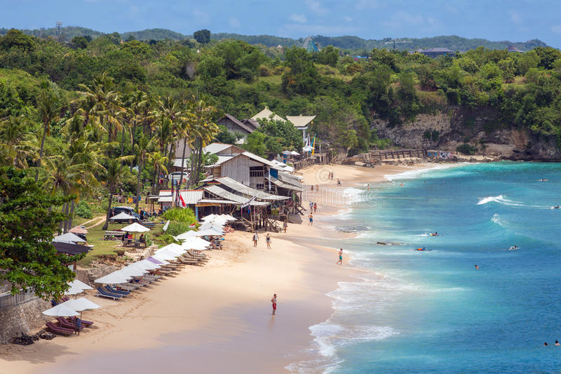 Balangan plaża w Bali zdjęcie stock