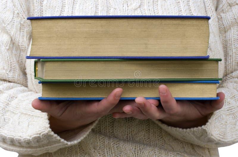 balansera böcker royaltyfri foto