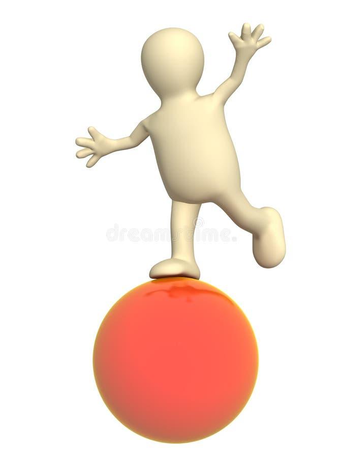 balansera dockared för boll 3d vektor illustrationer
