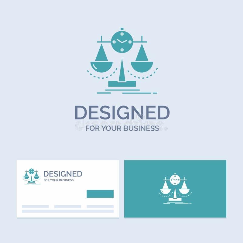 Balanserat ledning, mått, sammanställningsruta, strategiaffär Logo Glyph Icon Symbol för din affär Turkosaff?rskort vektor illustrationer