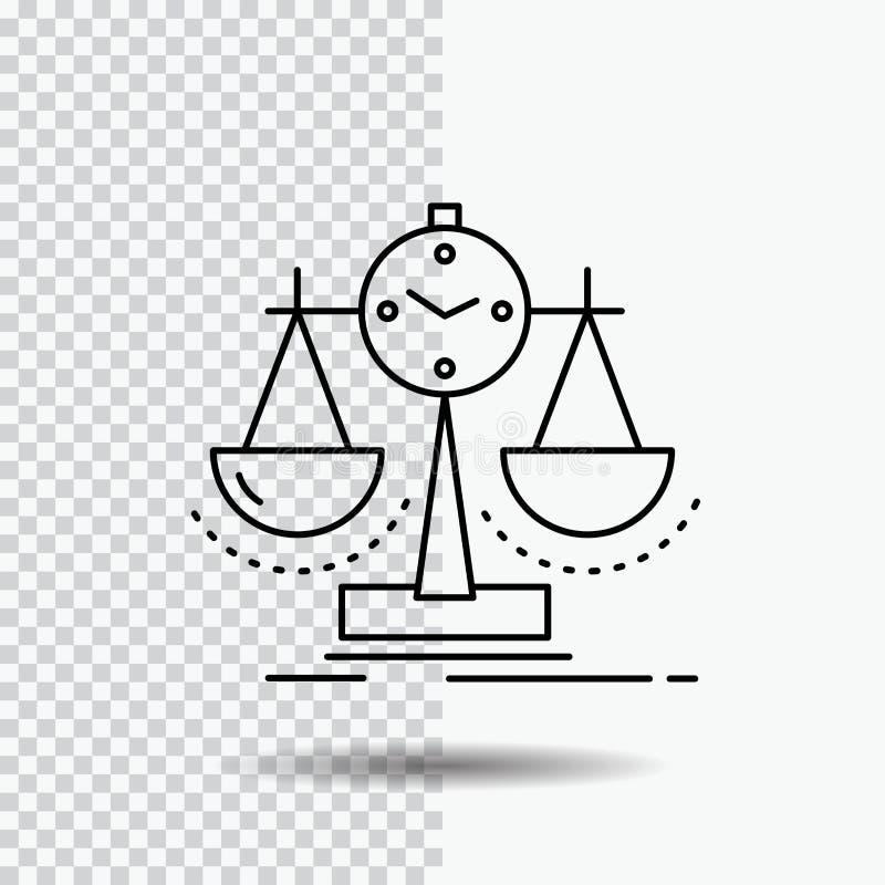 Balanserat ledning, mått, sammanställningsruta, strategilinje symbol på genomskinlig bakgrund Svart symbolsvektorillustration royaltyfri illustrationer