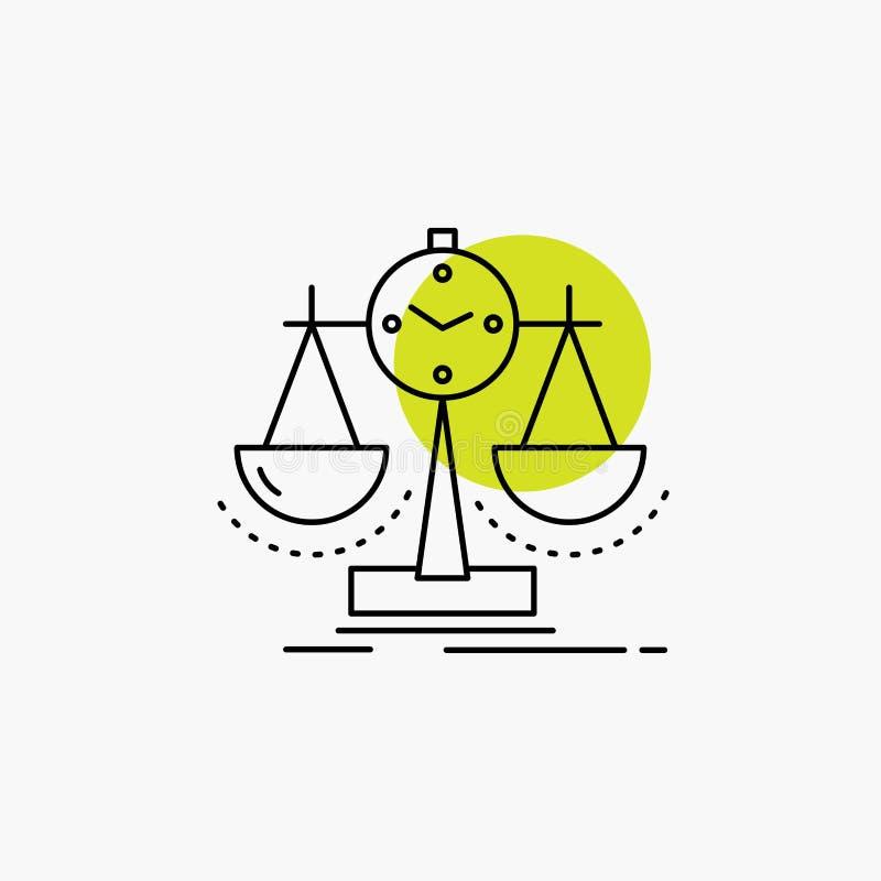 Balanserat ledning, m?tt, sammanst?llningsruta, strategilinje symbol royaltyfri illustrationer