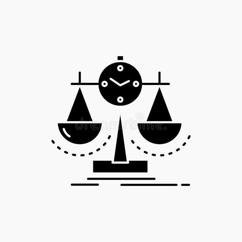 Balanserat ledning, m?tt, sammanst?llningsruta, strategisk?rasymbol Vektor isolerad illustration vektor illustrationer