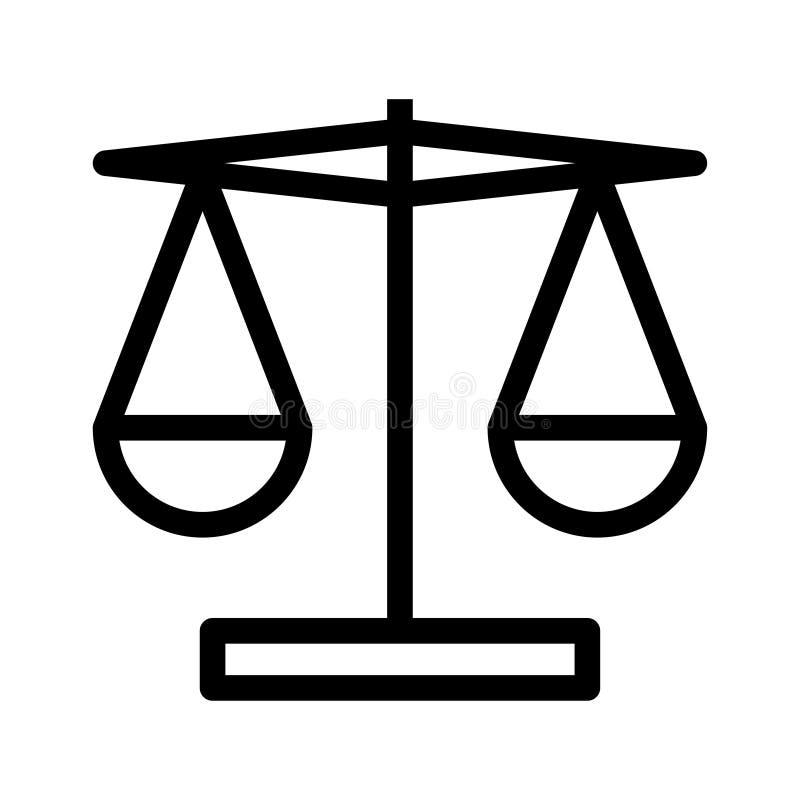 Balansowa ikona ilustracji