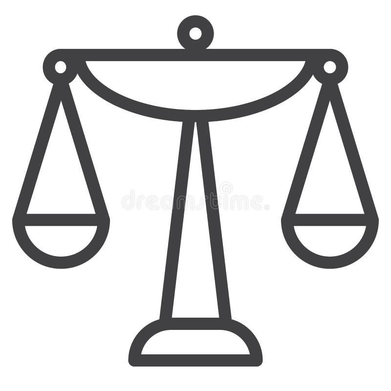 Balansowa skala linii ikona ilustracja wektor