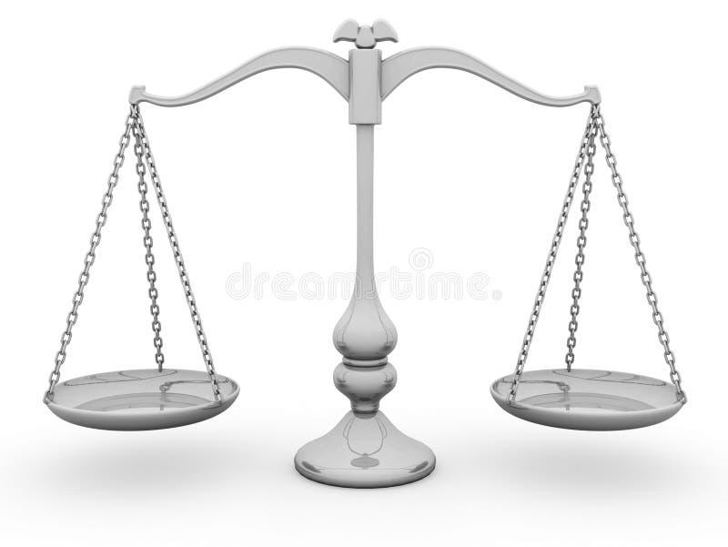 balansowa skali ilustracji