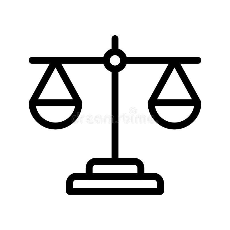 Balansowa wektor linii ikona royalty ilustracja