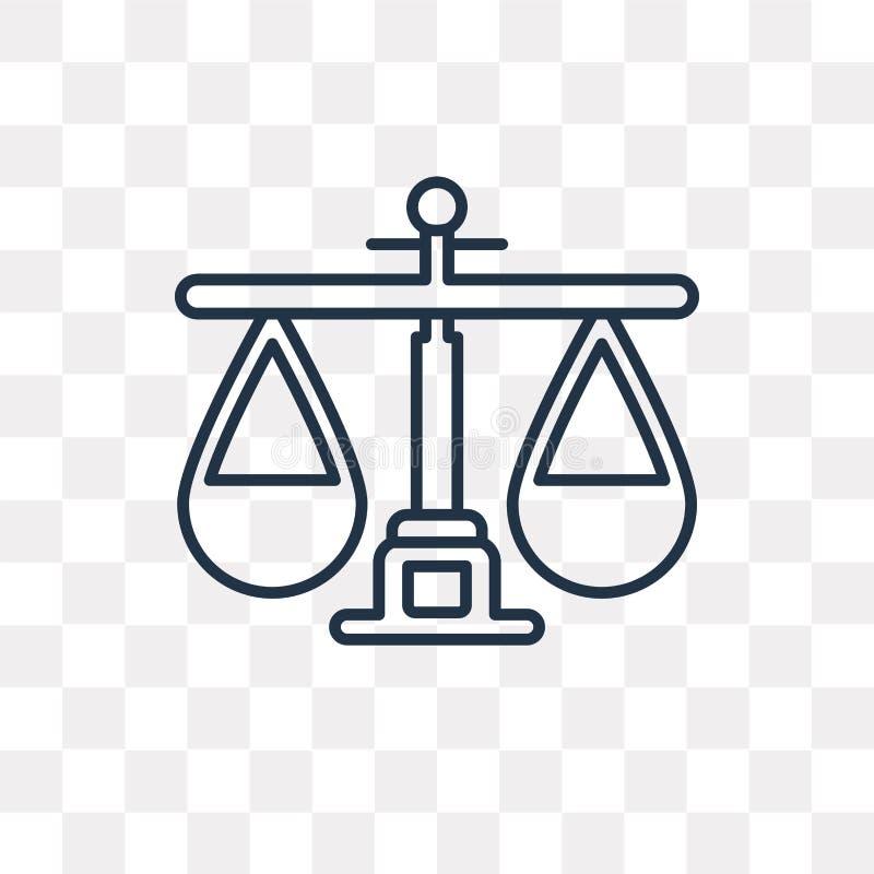 Balansowa wektorowa ikona odizolowywająca na przejrzystym tle, liniowy b royalty ilustracja