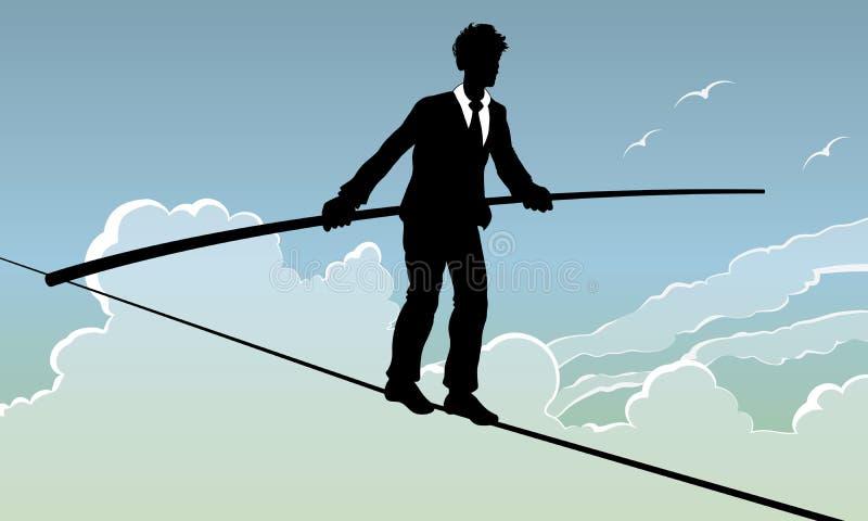 balansowanie na linie piechur ilustracji