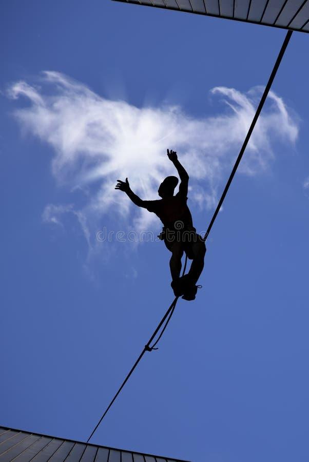 Balansowanie na linie piechur zdjęcie royalty free