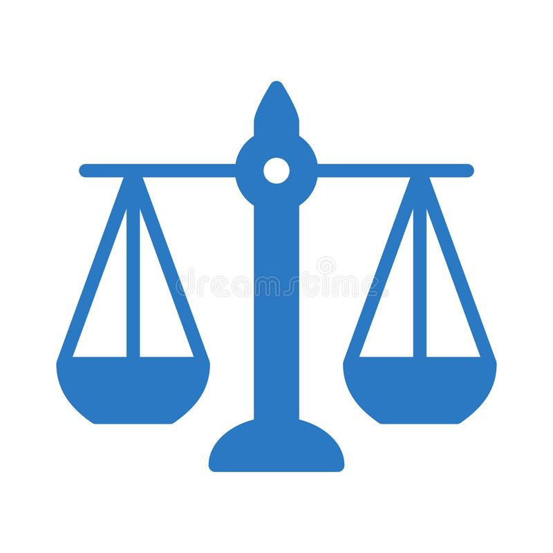 Balansowego glifu koloru płaska wektorowa ikona ilustracji