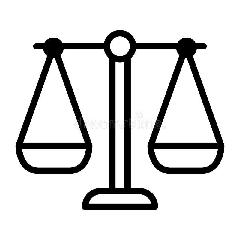 Balansowego glifu płaska wektorowa ikona ilustracji