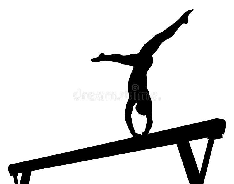 Balansowego promienia dziewczyny gimnastyczka ilustracji