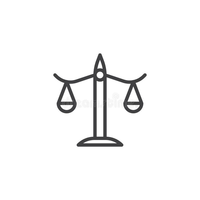 Balansowej linii ikona royalty ilustracja