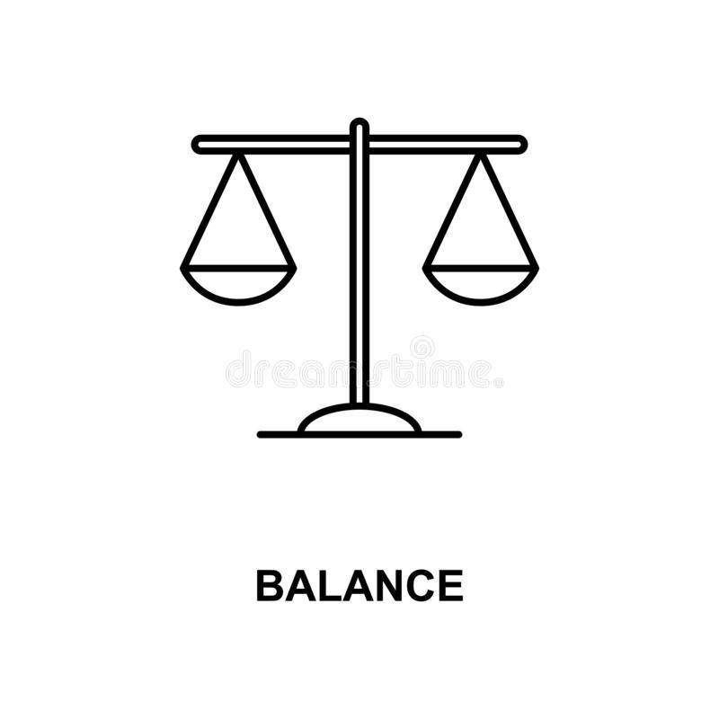 Balansowej linii ikona ilustracja wektor