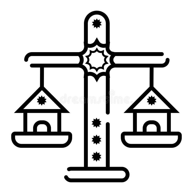 Balansowy ikona wektor ilustracji