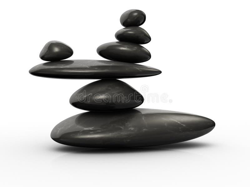 balansowy kamień ilustracji