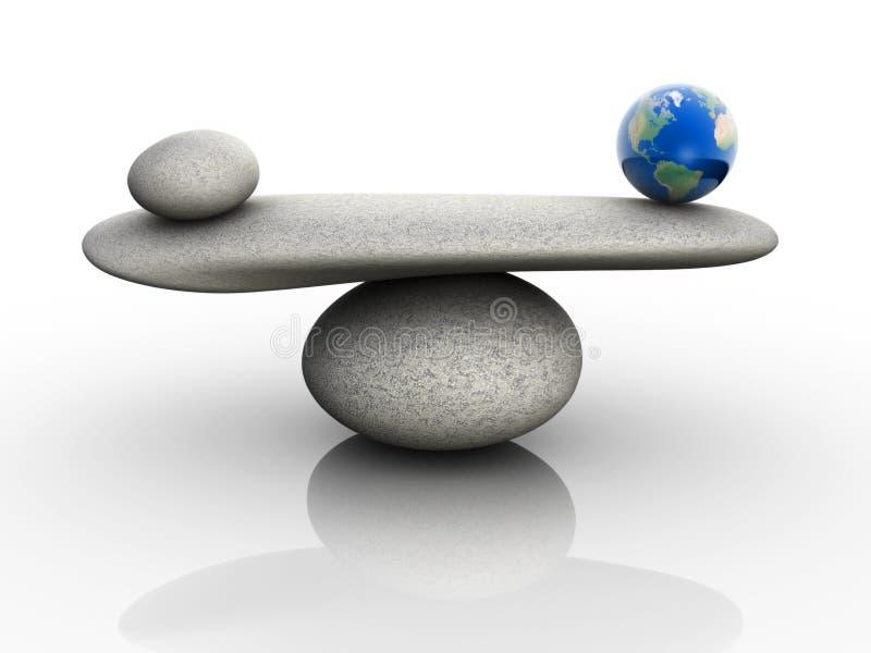 balansowy naturalny ilustracji