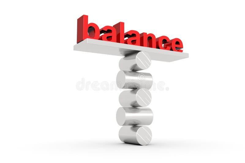 Balansowy teksta pojęcie ilustracja wektor