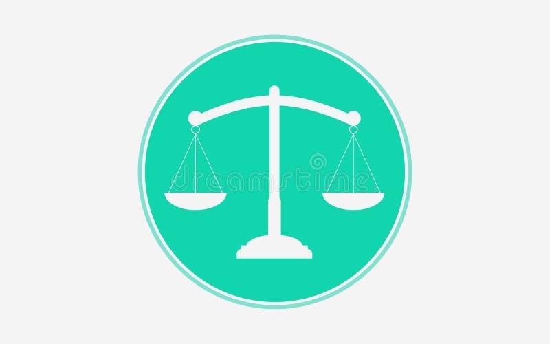 Balansowy wektorowy ikona znaka symbol ilustracji