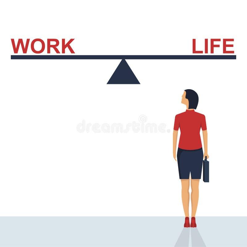 Balansuje między pracą i życie projekta wektorową ilustracją ilustracja wektor