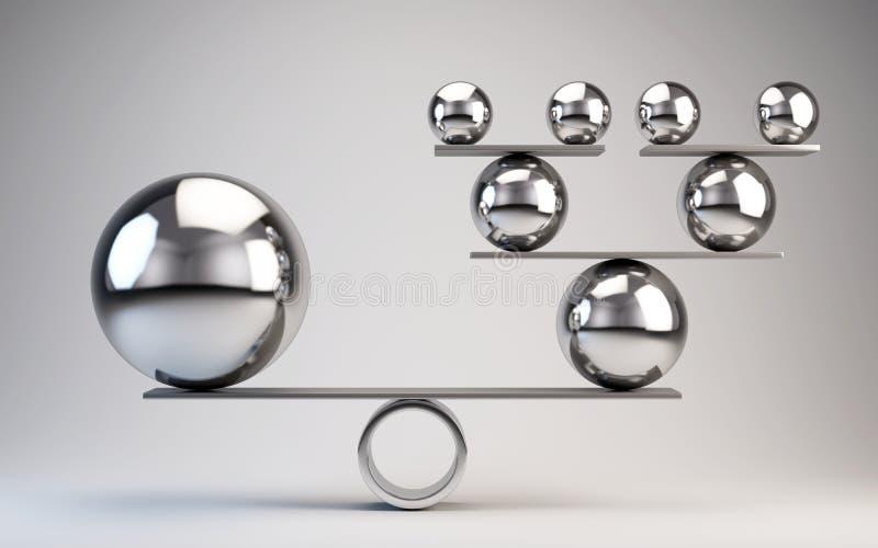 Balanza ilustración del vector